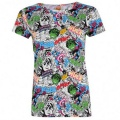 Character Short Sleeve T Shirt Ladies Marvel AOP - tričko - veľ. M (12)