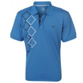 Dunlop Poly Check Polo Blue/White/Navy - tričko - veľ. XL