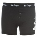 Lee Cooper Button Boxer Mens Black - boxerky - veľ. M