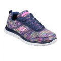 Skechers Flex Appeal Whirl Wind Ladies Trainers Navy/Multi - tenisky - veľ.  6 (39)